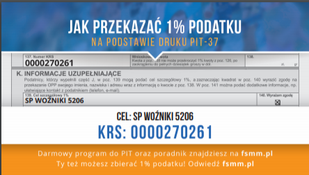 Przekaż 1% podatku SP
